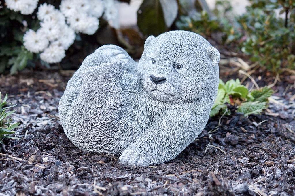 steinfigur großer bär frostfest garten deko steinguss bärchen, Garten ideen