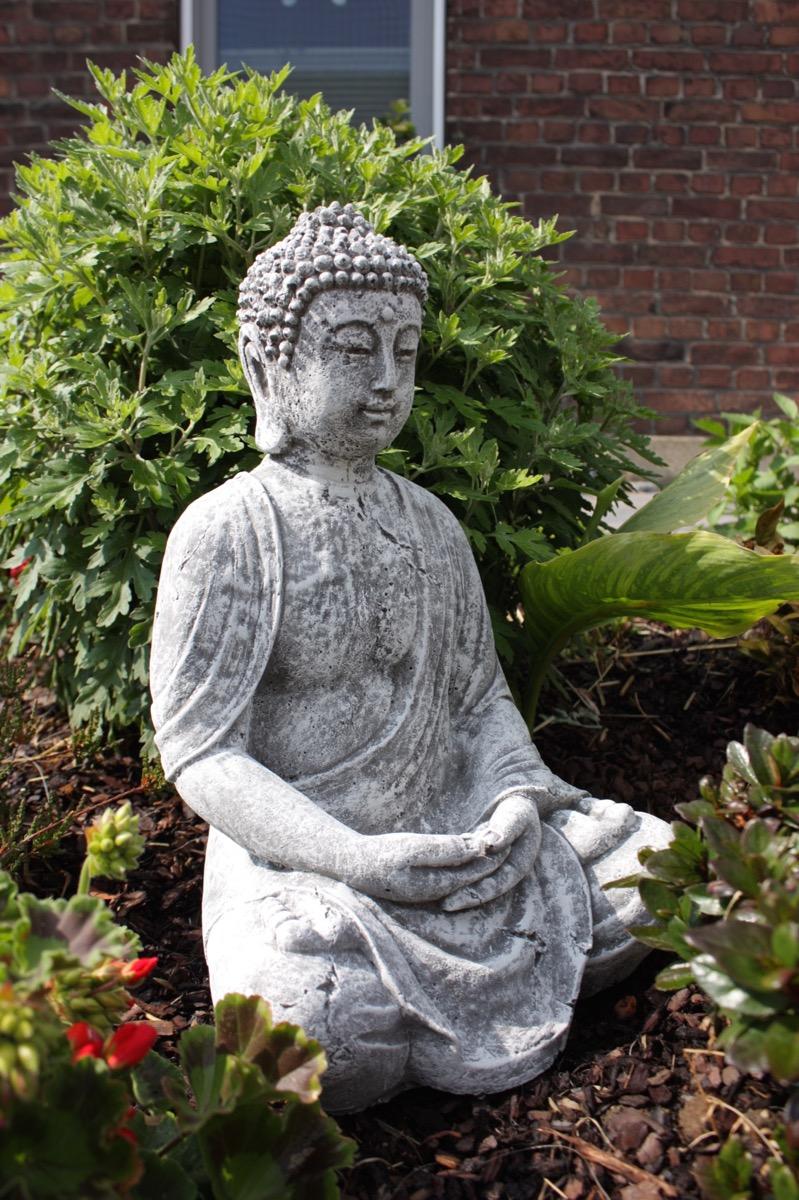 steinfigur gro er buddha shiva frostfest garten deko steinguss gro gartenfigur ebay. Black Bedroom Furniture Sets. Home Design Ideas