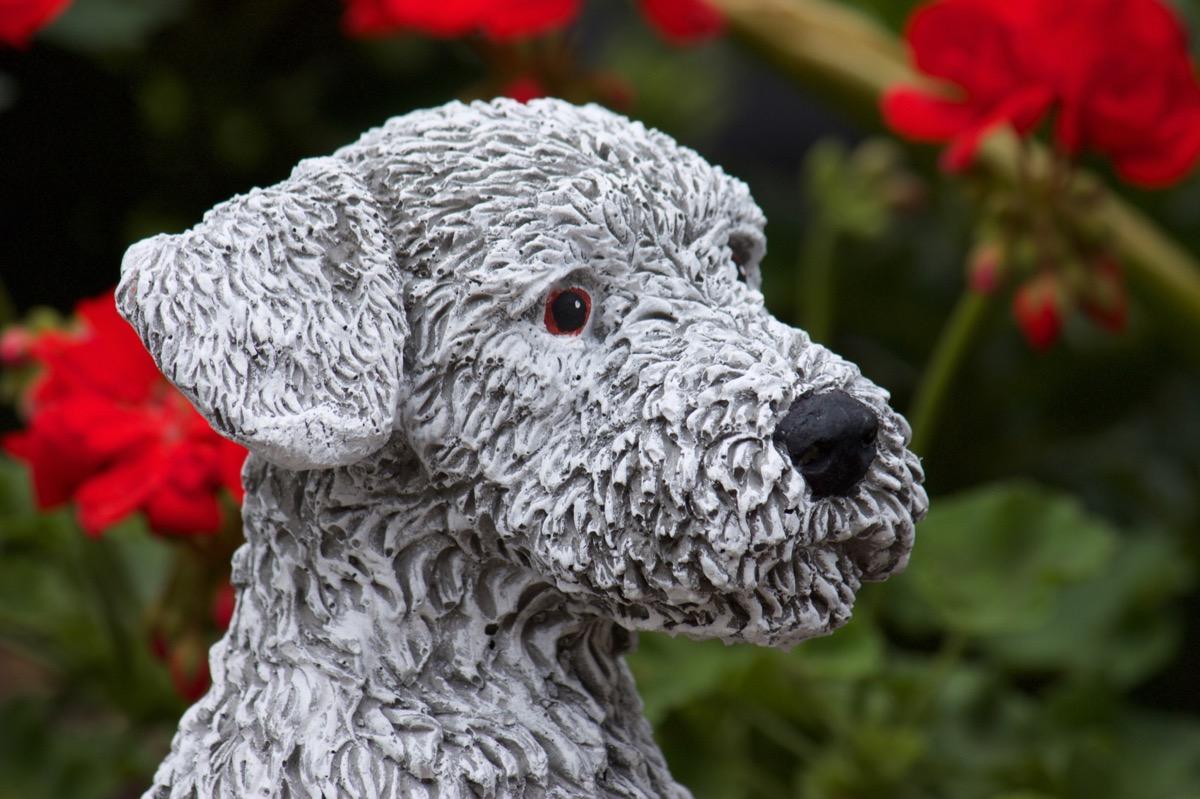 sculpture en pierre chien terrier r sistant au gel aux intemp ries artificielle ebay. Black Bedroom Furniture Sets. Home Design Ideas