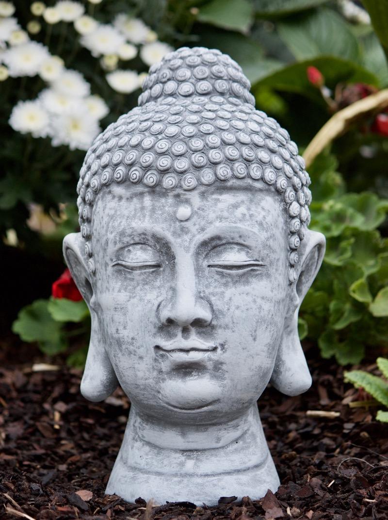 Steinfigur buddha shiva kopf frostfest gartenfigur deko for Steinfigur buddha garten