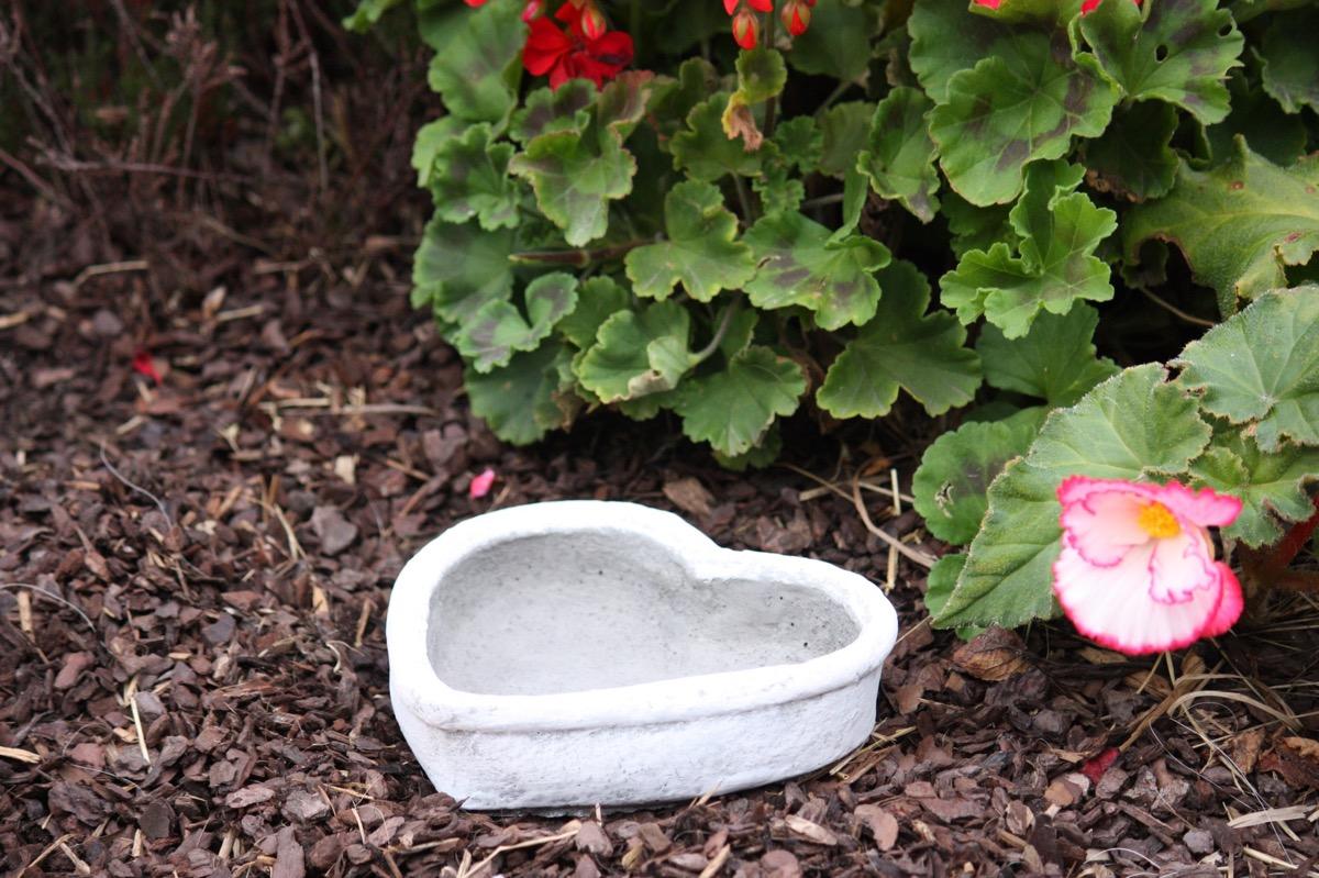 Pierre pot de fleurs c ur r sistant au gel d coration jardin artificielle ebay - Fleurs resistant au gel ...